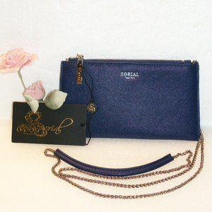 ❄️HP❄️SORIAL Crossbody Bag Navy Blue & Silver NWT